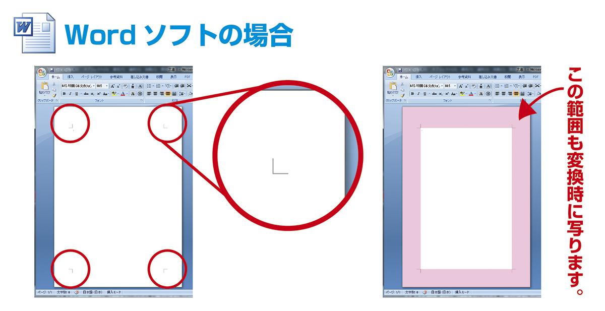 pdf 印刷範囲 余白